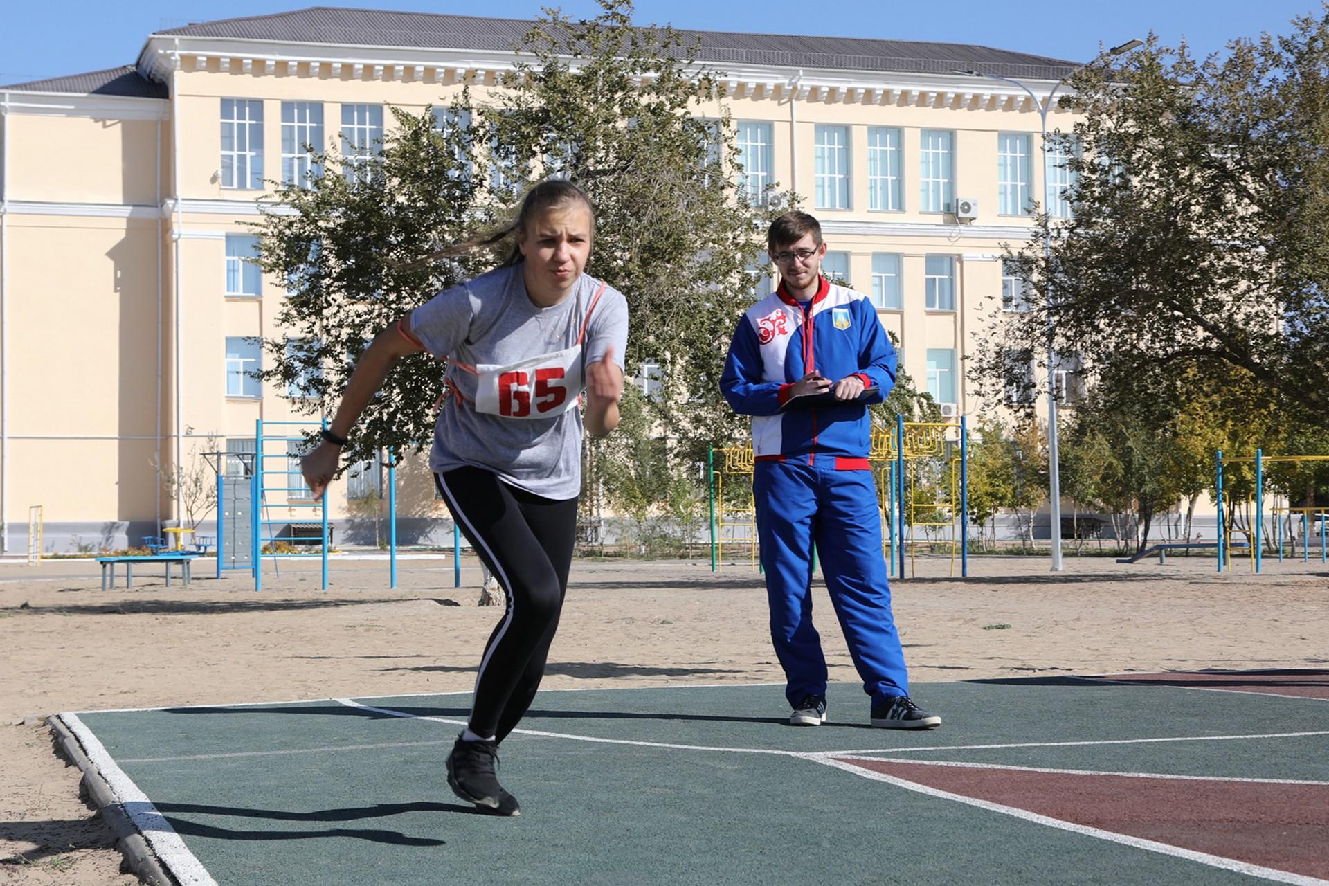 В минувшую субботу учащиеся средней школы №1 сдавали нормативы ГТО