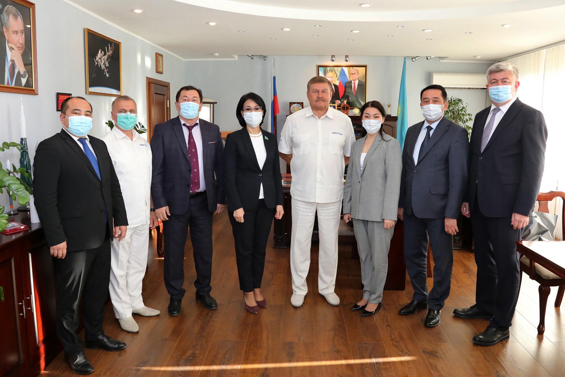 Состоялась рабочая встреча главы города Байконура с делегацией Республики Казахстан