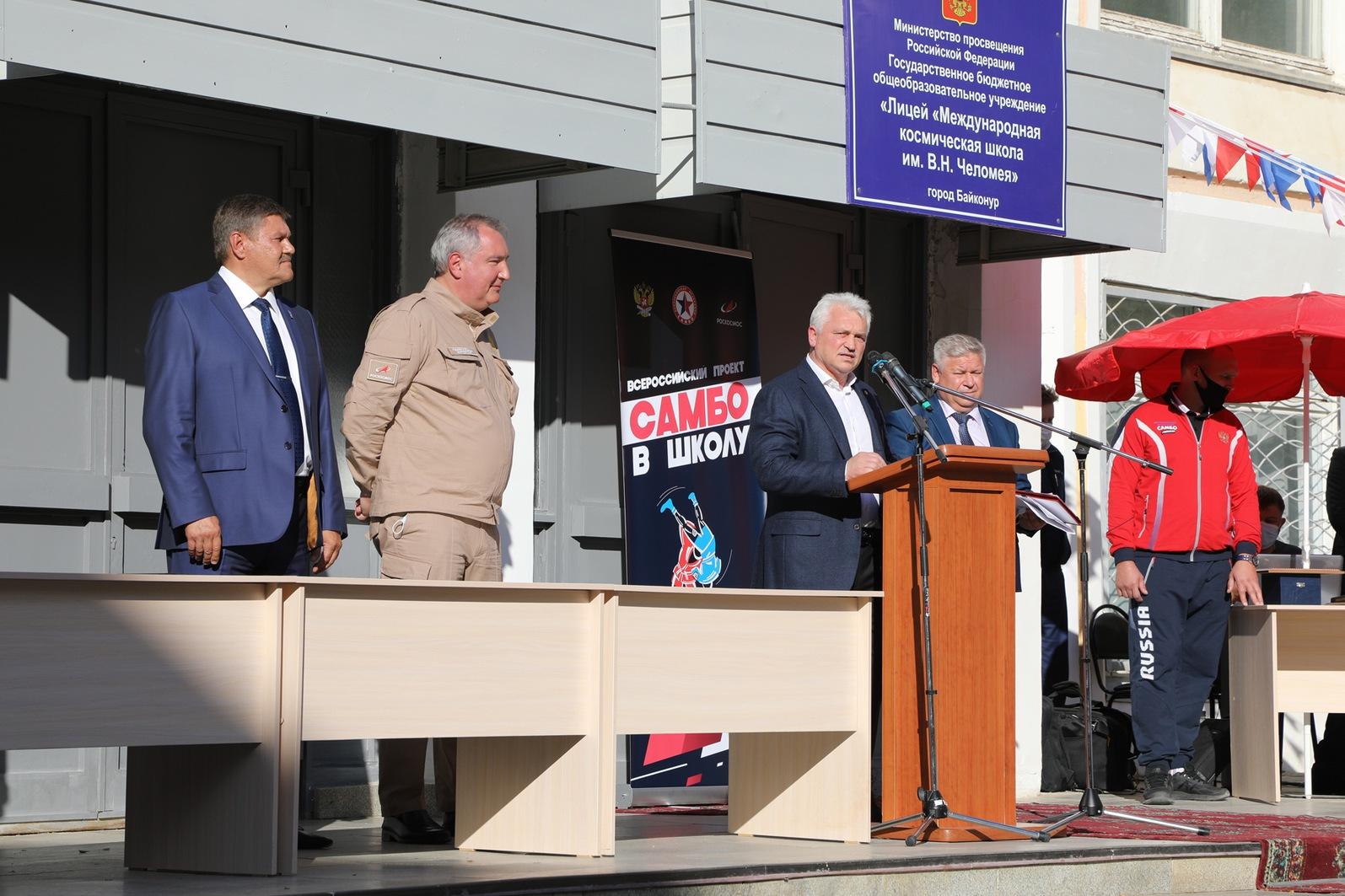 В МКШ прошла торжественная церемония запуска проекта «Самбо в школу» в городе Байконуре
