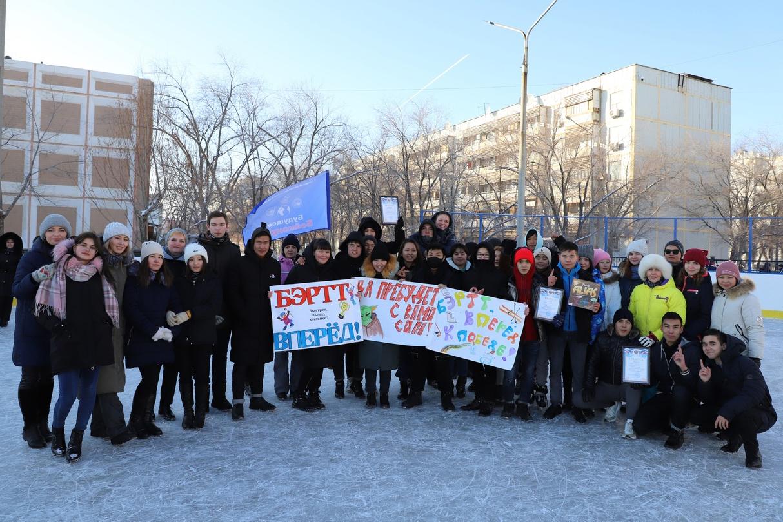 В преддверии Дня российского студенчества на территории катка Лицея «МКШ» прошли «Студенческие зимние игры».