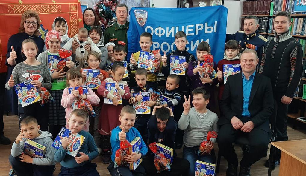 «Офицеры России» Байконура приняли активное участие в новогодних и рождественских праздниках