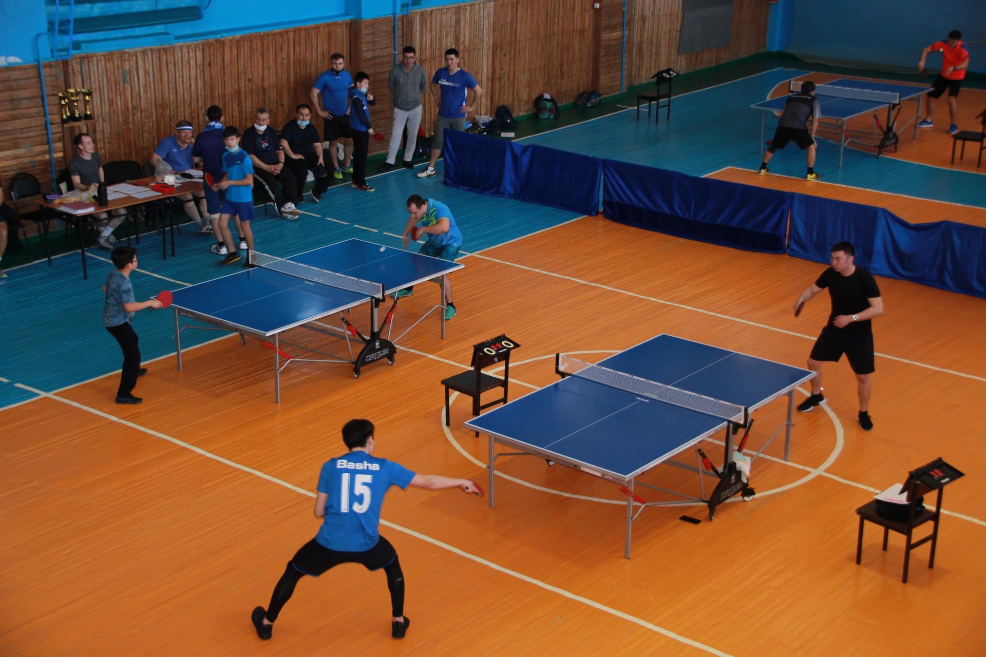 Прошло первенство города Байконура по настольному теннису, посвященное Дню защитника Отечества