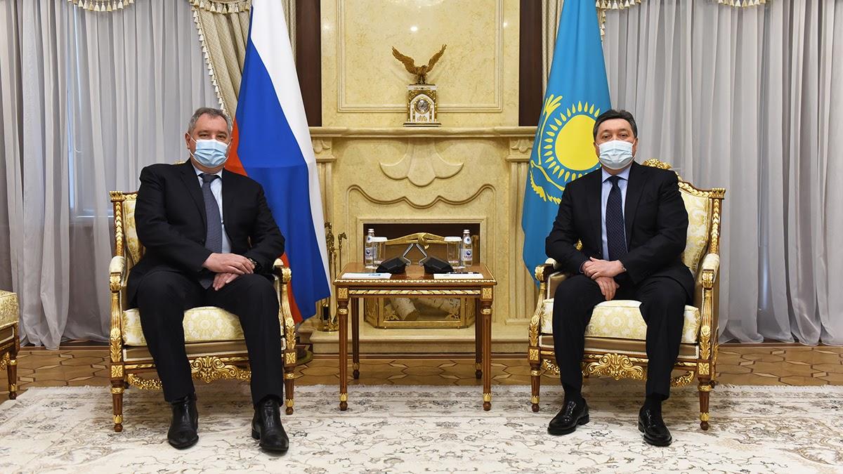 Встреча Дмитрия Рогозина с Премьер-Министром РК Аскаром Маминым