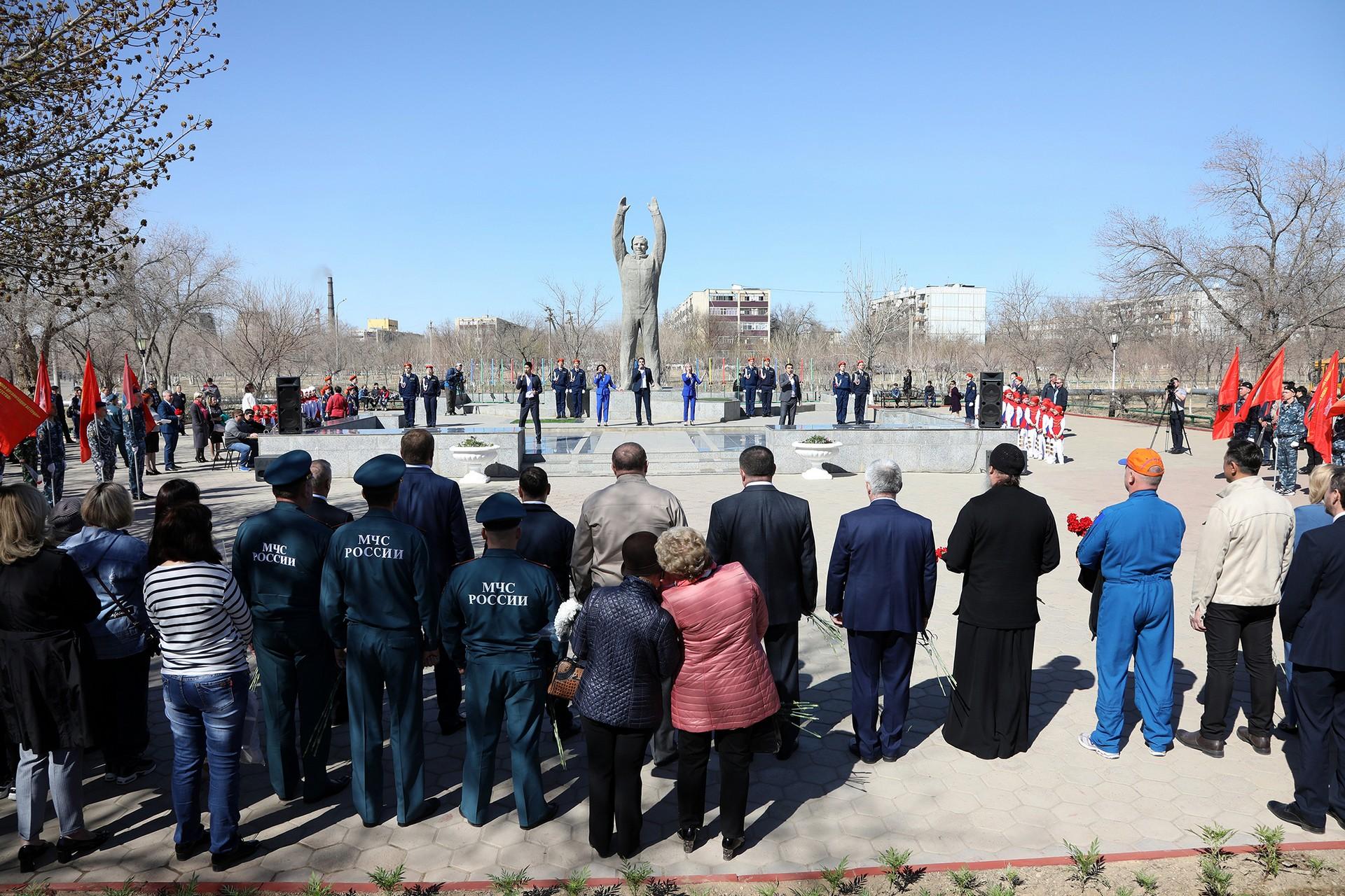 Состоялся торжественный митинг, посвященный 60-летию полёта в космос Юрия Гагарина (фоторепортаж)