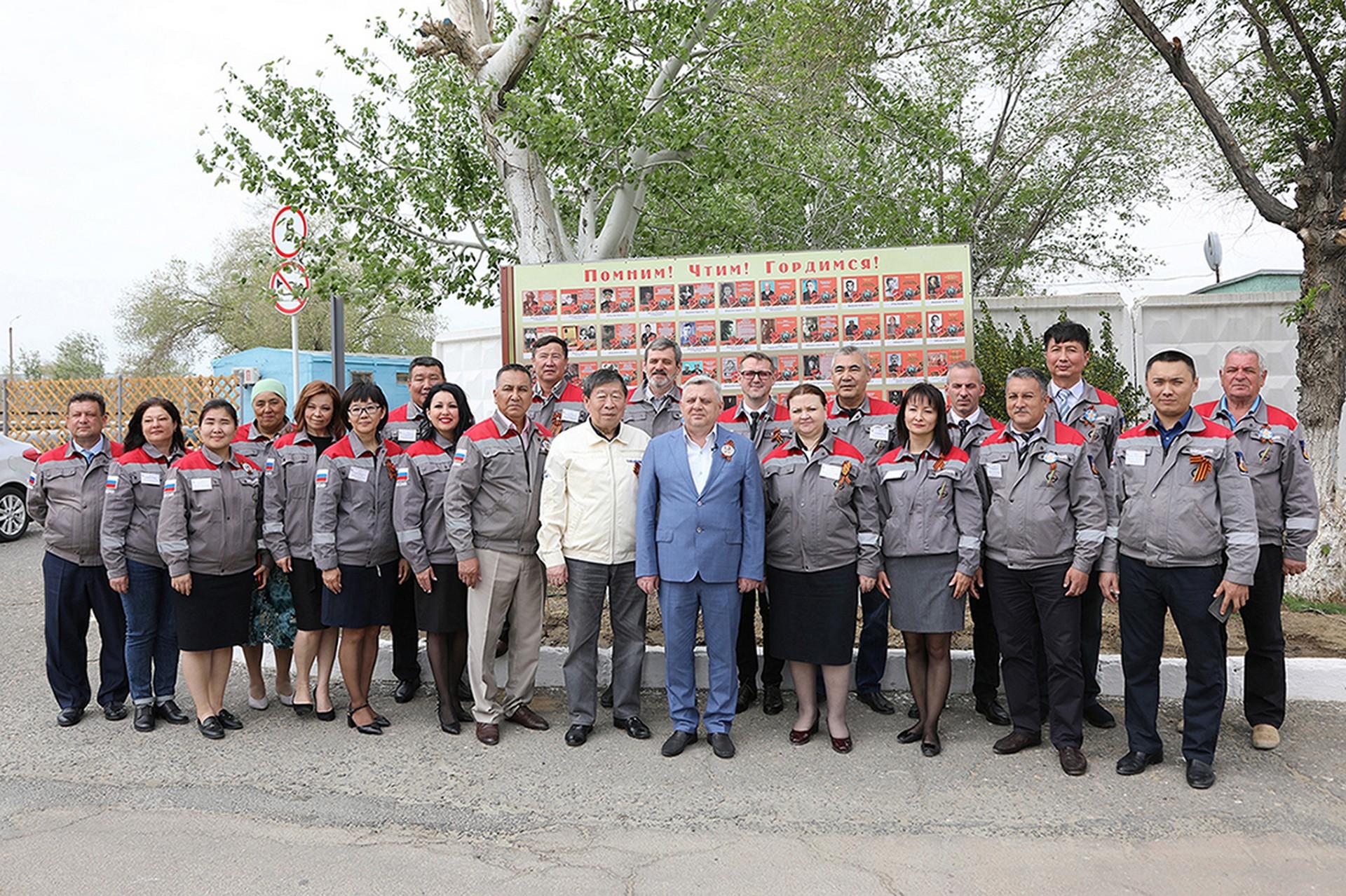 Поздравление главы администрации города Байконура с днем образования ГУП ПЭО «Байконурэнерго»