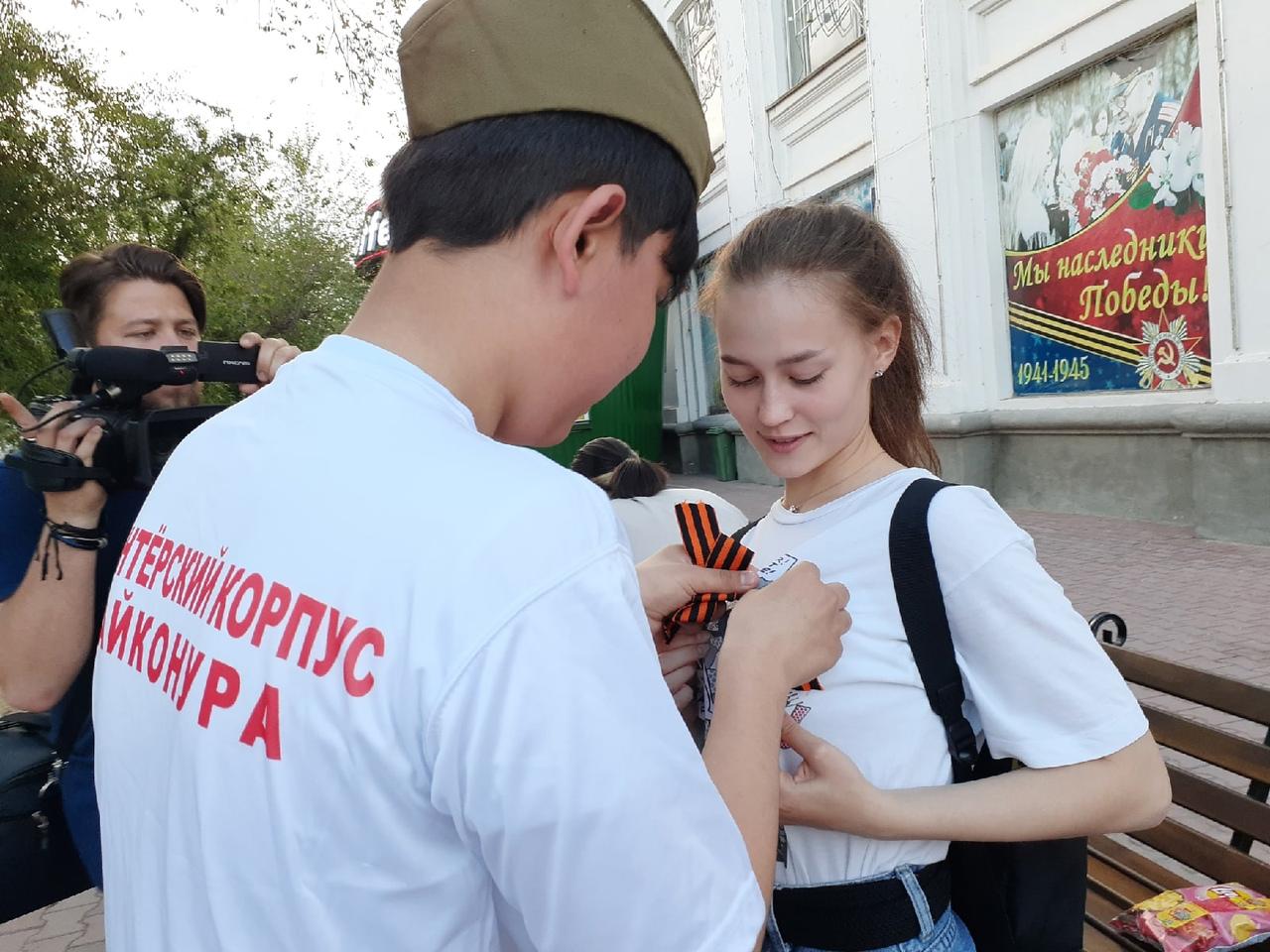 В Байконуре прошел ряд патриотических акций, приуроченных ко Дню Победы
