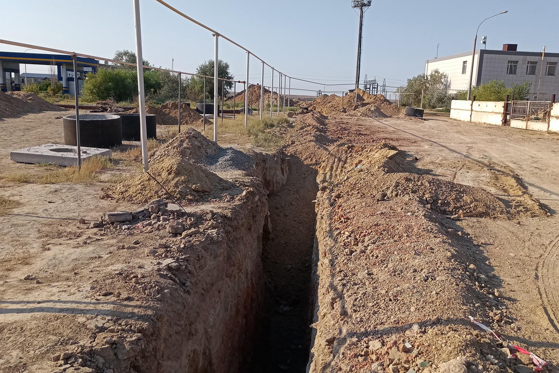 Началась реконструкция систем водоснабжения и водоотведения города Байконура